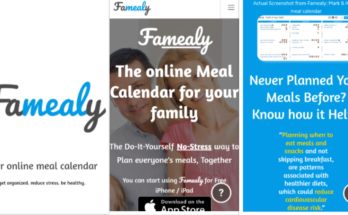 Famealy - Online meal calendar for your family