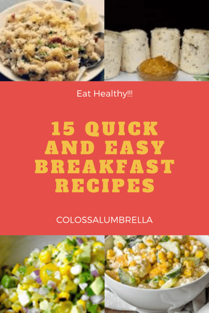 15 quick and easy healthy breakfast meals