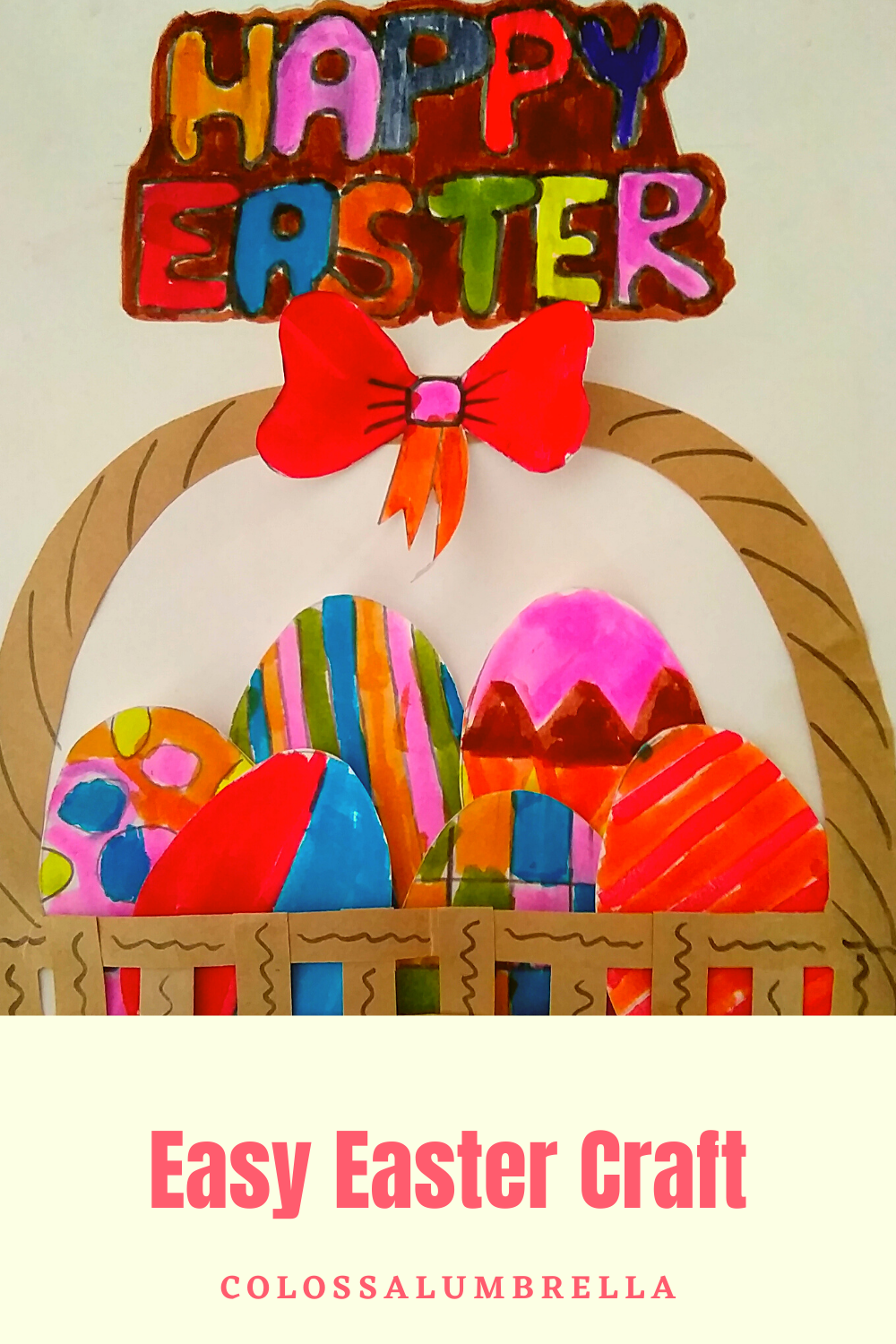 Easy Easter craft for kids – Easter Basket Craft with free Printable