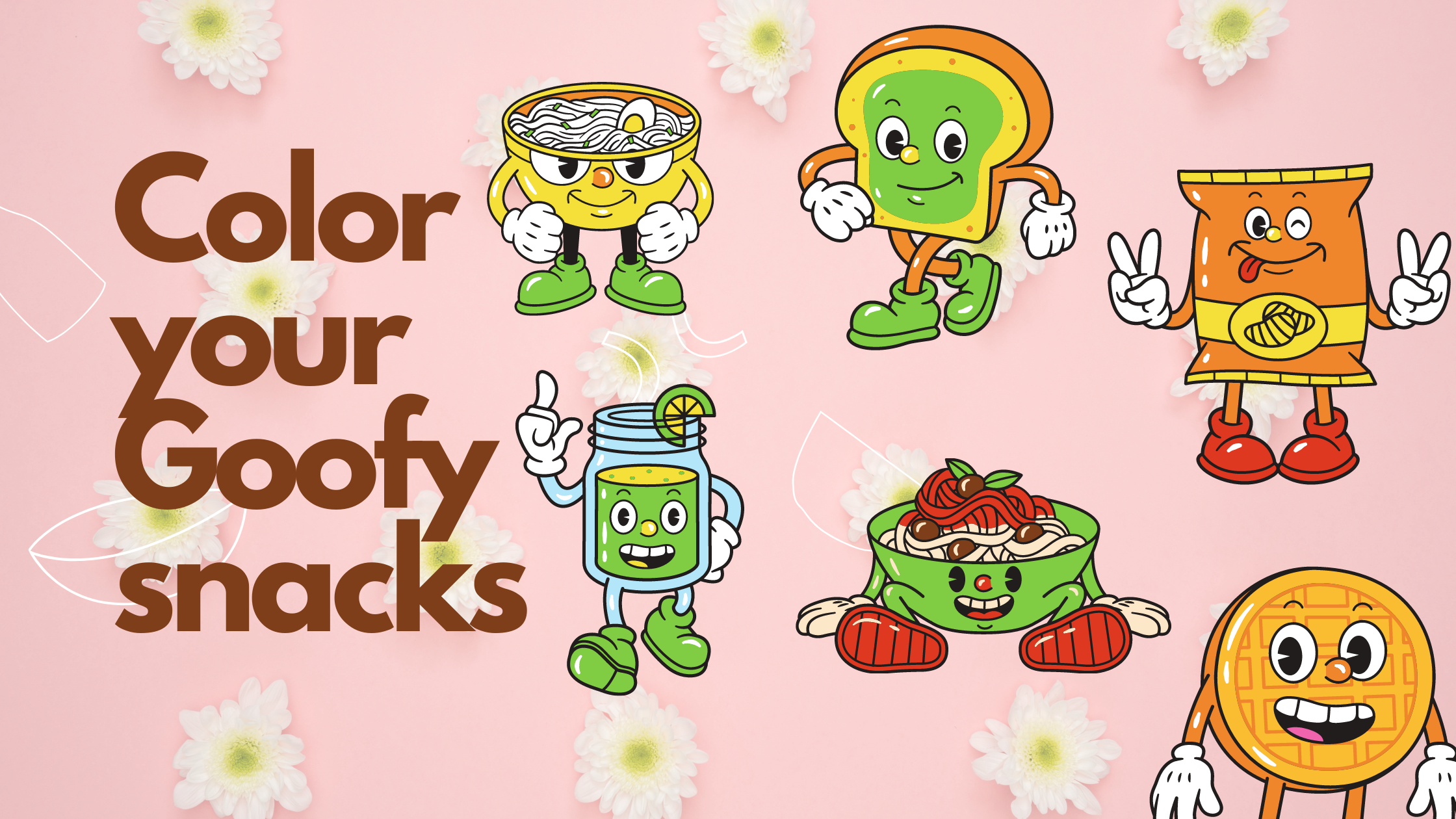 10 Free coloring worksheets – say hello to Goofy Snacks!
